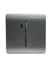 Trendi Artistic Modern Glossy 20 A Tactile Light Switch & Neon Insert Silver ART-WHS1SI